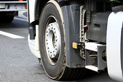 Lorry in a traffic jam. Image of lorry in a traffic jam stock images