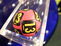 Image of lottery balls during extraction Royalty Free Stock Image