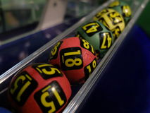 Image of lottery balls during extraction Royalty Free Stock Photography