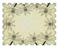 Image lotus flower frame on old paper Royalty Free Stock Photo