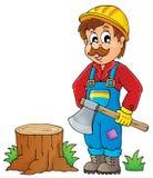 Image with lumberjack theme 1 stock illustration