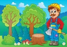 Image with lumberjack theme 2 Royalty Free Stock Images