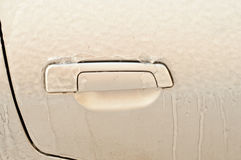 Image macro icy car Stock Photography