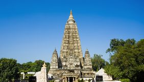 Mahabodhi  Bodh Gaya temple, India. Image of Mahabodhi  Bodh Gaya temple, India Royalty Free Stock Photography