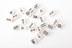 An Image of Mahjong Tile. On white background stock images