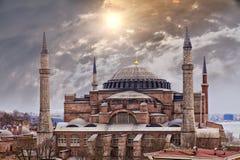 Hagia Sophia Istanbul. Image of the majestic Hagia Sophia in Istanbul, Turkey Royalty Free Stock Photos