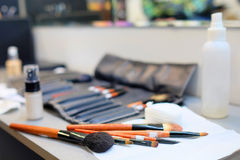 Image of a makeup brushes Royalty Free Stock Images