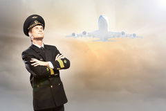 Image of male pilot Royalty Free Stock Photo