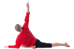Image of man practicing yoga, isolated on white Stock Photos