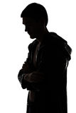 Image of the man's silhouette in profile Royalty Free Stock Photo