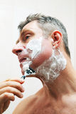 Image of man shaving Royalty Free Stock Images