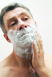 Image of man shaving Stock Image