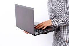 Image of a man using laptop Stock Photos