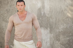 Image of a man in a v-neck shirt Royalty Free Stock Photos