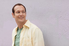 Image of a man in a yellow shirt Stock Photography