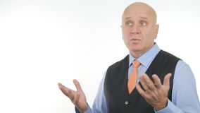 Manager Talking And Gesturing In a Business Meeting royalty free stock image