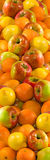 Image of many apples and orange Royalty Free Stock Images