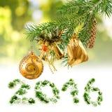 Image many Christmas decorations closeup Royalty Free Stock Photo