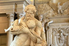 Image of marble masterpieces in one of many rooms, The Louvre, Paris, France, 2016 Royalty Free Stock Images