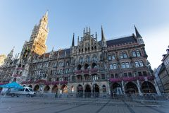 Marienplatz square in Munich Germany royalty free stock photo