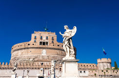 Image of the medieval fortification of Sankt Angelo in Rome, Italy Stock Photo