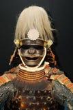Image of mediveal samurai armour. Image of samurai armour on dark background Royalty Free Stock Photos