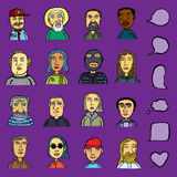 The image of men and women. Of different races and age a vector illustration Royalty Free Stock Photo