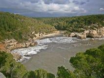Viewpoint of Cala Mitjana royalty free stock photo