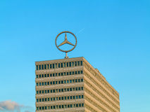 Image of the Mercedes Benz logo on Royalty Free Stock Photos