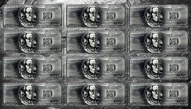 Image metal dollar bills. Stock Image
