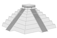 Image of mexican pyramide Royalty Free Stock Photo