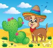 Image mignonne 4 de thème de chien Photographie stock