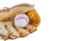image of mini figure dolls with base ball glove and ball Stock Images