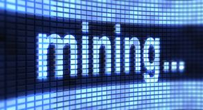 Mining on the screen Royalty Free Stock Photography