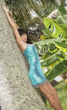 Image of a model posing outdoors Royalty Free Stock Photos