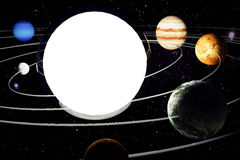 The image of a model of the solar system. 3d illustration with the image of a model of the solar system Royalty Free Stock Images