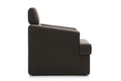 Image of a modern black armchair Royalty Free Stock Photography