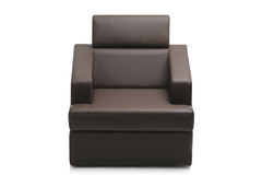 Image of a modern black leather armchair Royalty Free Stock Photos