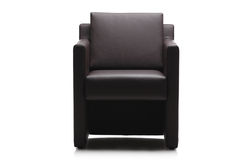 Image of a modern black leather armchair Royalty Free Stock Image