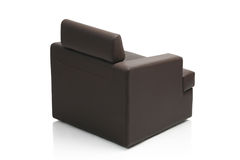 Image of a modern black leather armchair Royalty Free Stock Photo
