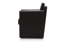 Image of a modern black leather armchair Stock Photos