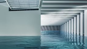 Modern Indoor Pool royalty free stock photo