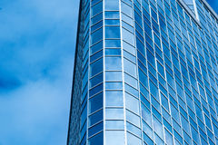 Image of modern office building against cloudy sky Royalty Free Stock Photo