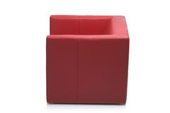 Image of a modern red armchair Royalty Free Stock Images