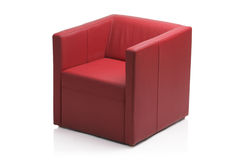 Image of a modern red leather armchair Stock Photo