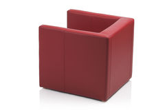 Image of a modern red leather armchair Stock Images