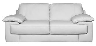 Image of a modern white leather sofa Stock Image