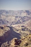 Image modifiée la tonalité par couleur de Grand Canyon, Etats-Unis photographie stock libre de droits
