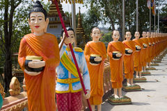 The image of monks Royalty Free Stock Photos