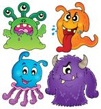 Image with monster theme 1. Eps10 vector illustration royalty free illustration